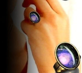 Ring oval  (Fullmoon blau)