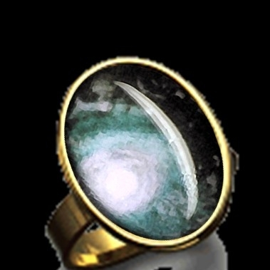 Ring oval (Fullmoon bleu